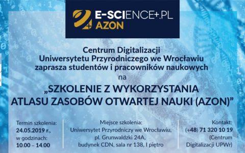 Przed nami ostatnie szkolenie z wykorzystania Atlasu Zasobów Otwartej Nauki (AZON)